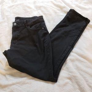 Riders By Lee Black Indigo Midrise Skinny Jeans
